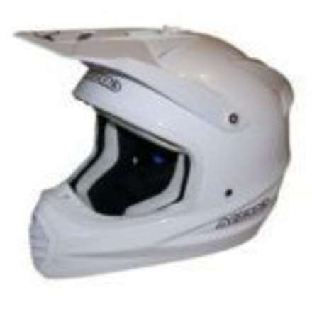 Casco 035 Fiber Full White Acerbis