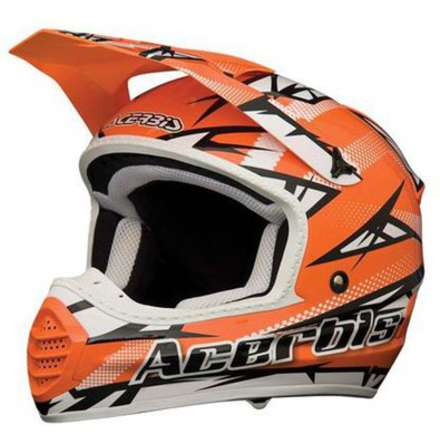 Casco 035 Fiber  Atomik Orange Acerbis