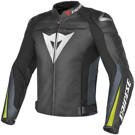Super Speed C2 jacket anthracite-black-yellow Dainese