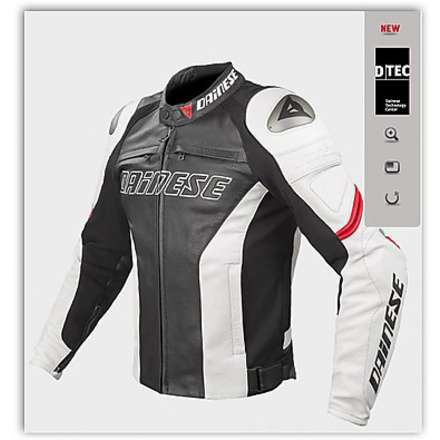 Racing C2 summer Black- White-Red Jacket Dainese