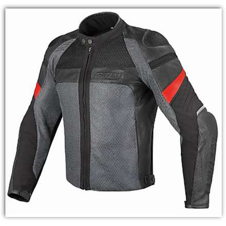 Air Frazer Tex-Pelle Black / Anthracite Jacket Dainese