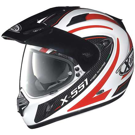 X-551 N-com Shift White Helmet X-lite
