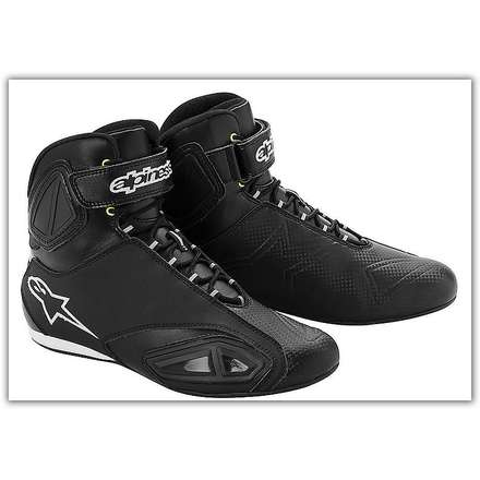 Fastlane Waterproof Black/White Boot  Alpinestars