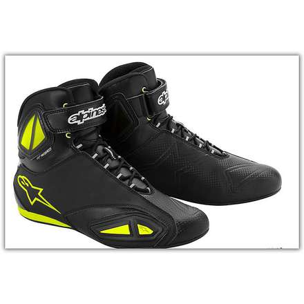 Fastlane Waterproof Black / Yellow Fluo Boot  Alpinestars