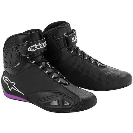 Fastlane Waterproof Black/Pink Boot Lady Shoe Alpinestars