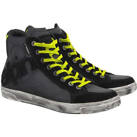 Joey Waterproof Shiny Black/Yellow Fluo Boot  Alpinestars
