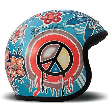 Vintage Flower Power Helmet DMD