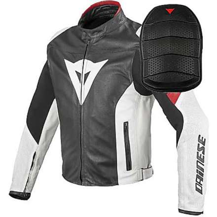 Leather jacket Airfast + Shield Protector level 2 Dainese