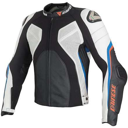Super Rider Summer Jacket  black-white-blue Dainese