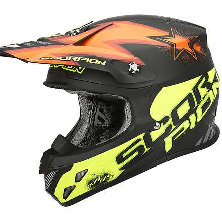 Helm VX-20 Air  Magnus Schwarz-Orange-Gelb Fluo Scorpion