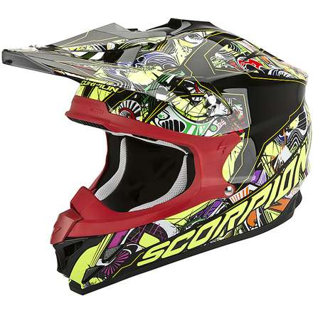 Helm VX-15 Evo Air Vector Schwarz-Multicolore Scorpion