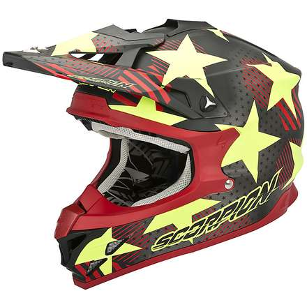 Helm VX-15 Evo Air Stadium Schwarz-Gelb Fluo Scorpion
