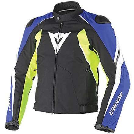 Raptor Tex Jacket black-yellow fluo-blue suzuki Dainese
