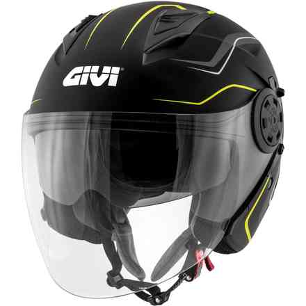 12.3 jet helmet Stratos Flux black matt yellow Givi