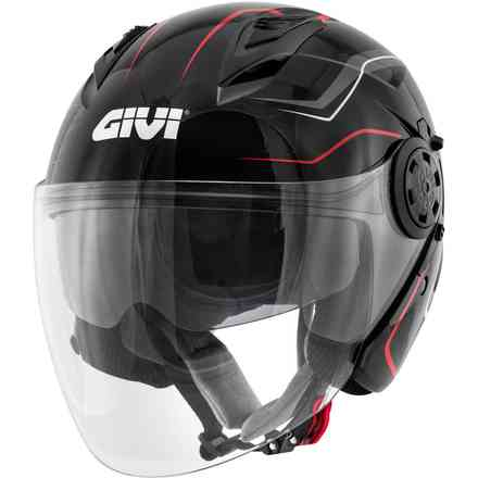12.3 jet helmet Stratos Flux black red Givi