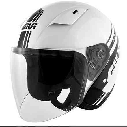 30.3 helmet white black Givi