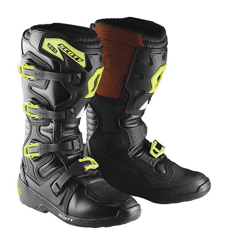 350 MX Boots black-green Scott