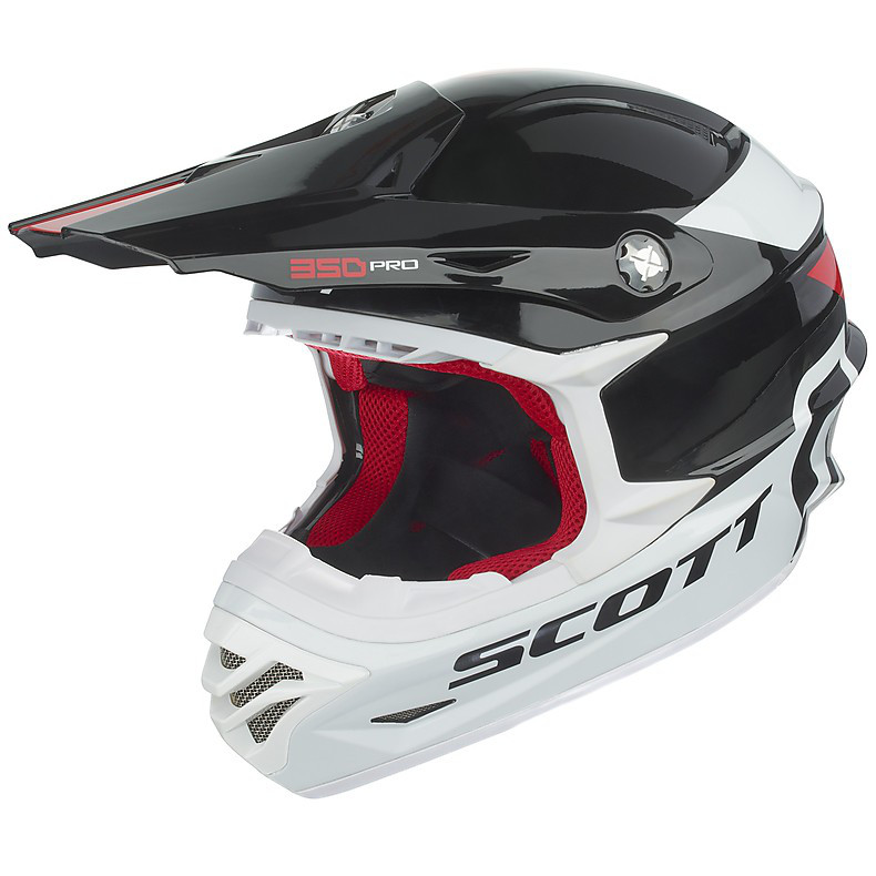 350 Pro Race Helmet black-red Scott