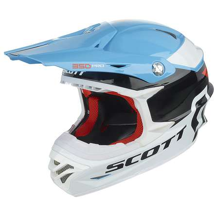 350 Pro Race Helmet blue-orange Scott