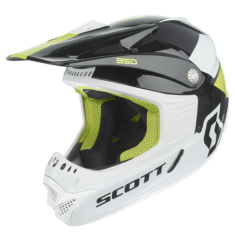 350 Race Ece Junior Helmet black-green Scott