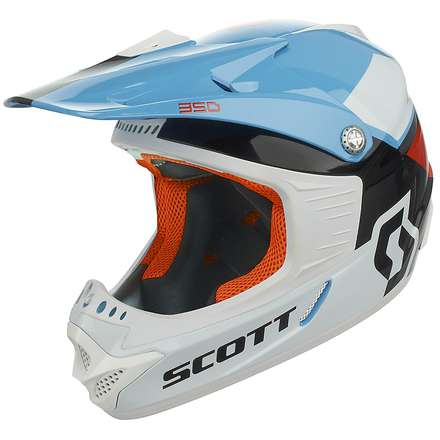 350 Race Ece Junior Helmet black-red Scott