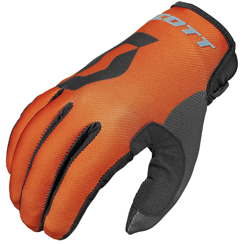 350 Track Kids gloves  orange-black Scott