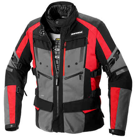 4 Season Evo h2out Jacket Black/Red Spidi