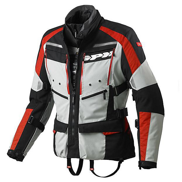 4 Season H2Out Jacket Grey-Red Spidi