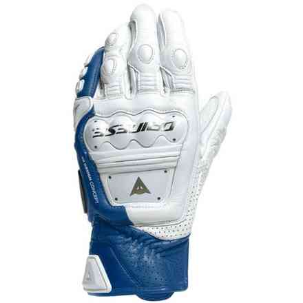 4-Stroke 2 white-light blue gloves Dainese