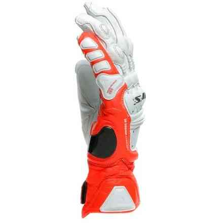 4-Stroke 2 white-red gloves Dainese