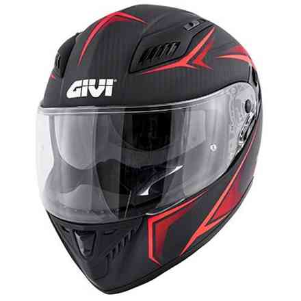 40.5 X-Carbon helmet black red Givi
