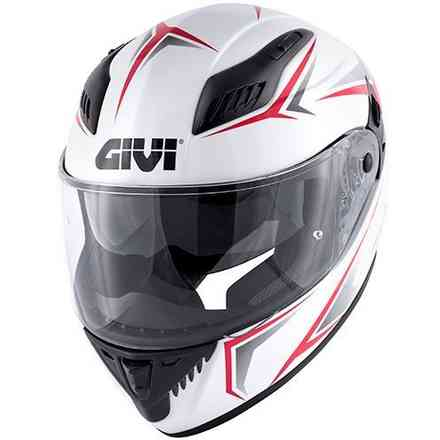 40.5 X-Fiber helmet white red Givi