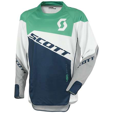 450 Podium Jersey green-blue Scott