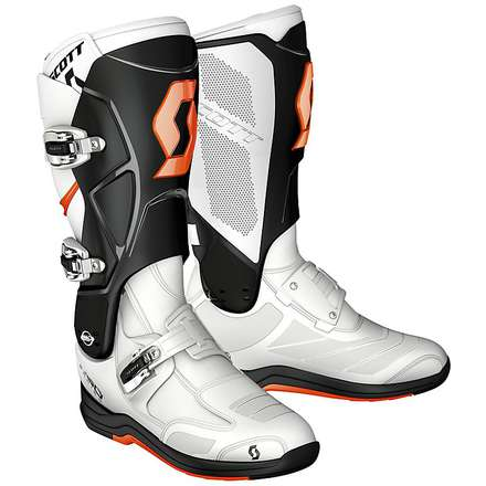 550 MX Boots orange-blue Scott