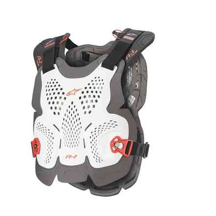 A-1 Plus Chest Protector white anthracyte red Alpinestars