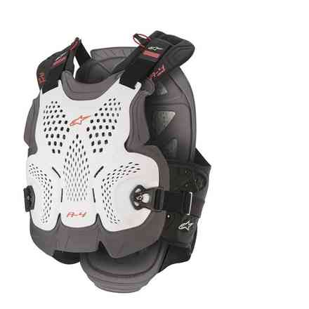 A-4 Max Chest Protector Weiss Antrazyt Rot Alpinestars
