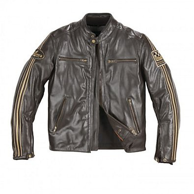 Ace leather Jacket Brown Helstons
