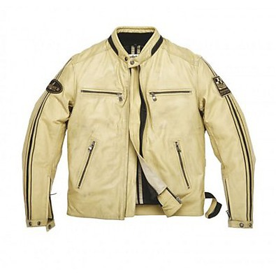 Ace leather Jacket Rag Beige Helstons