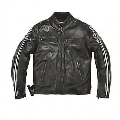 Ace leather Jacket Rag Black Helstons