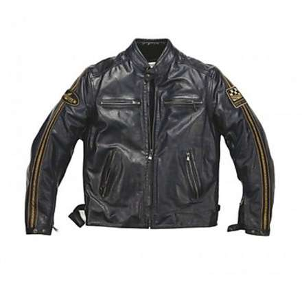 Ace leather Jacket Rag Blue Helstons
