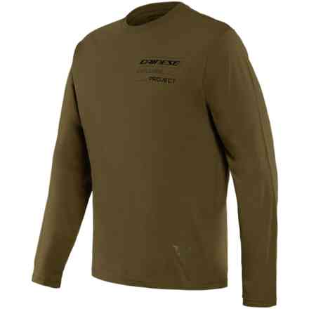 Adventure t-shirt long sleeve Military-Olive/Black Dainese