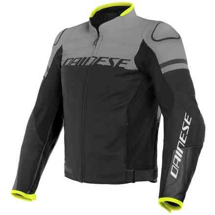 Agile jacket black grey yellow Dainese