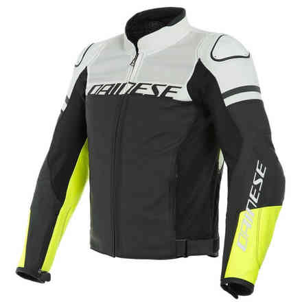 Agile Perforated jacket black matt white yellow fluo Dainese