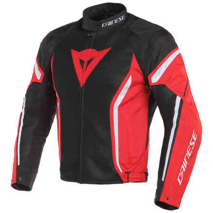 Air Crono 2 Tex jacket black red white Dainese