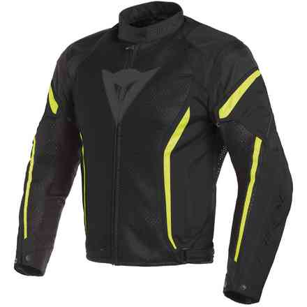 Air Crono 2 Tex jacket black yellow fluo Dainese