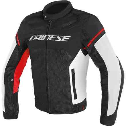 Air Frame D1 Tex jacket black white red Dainese
