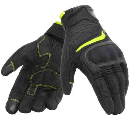 Air Master gloves black yellow fluo Dainese