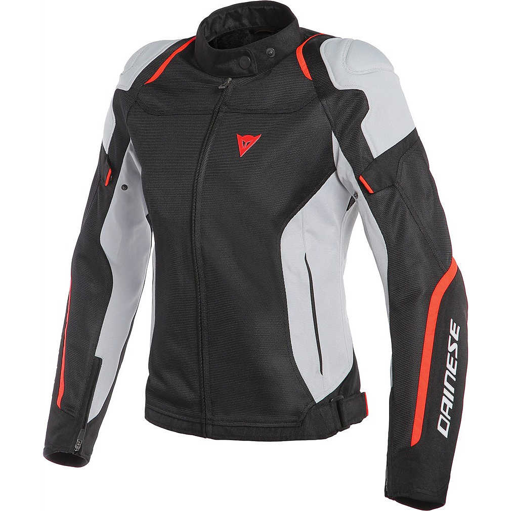 Air Master Lady Tex Jacket Black Glace Grey Red Fluo