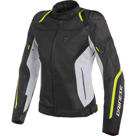 Air Master Lady Tex jacket black glace grey yellow fluo Dainese