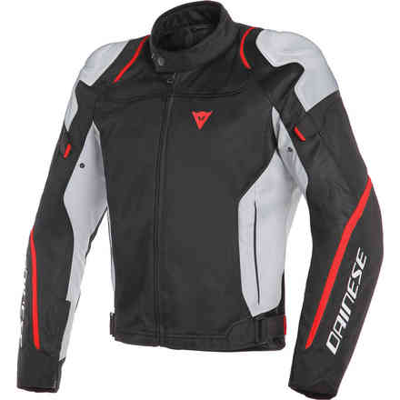 Air Master Tex jacket black grey glace fluo red Dainese